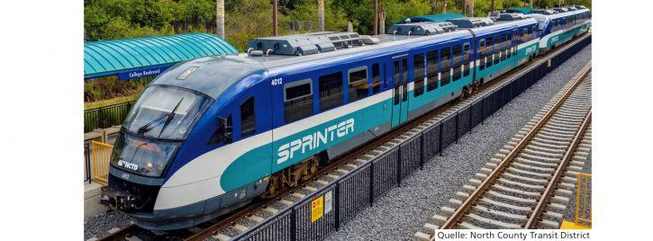 PIKO 52097 Dieseltriebwagen Desiro NCTD Sprinter | DCC Sound | Spur H0