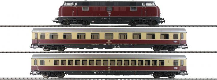 PIKO 58142 Zug-Set Diesellok BR 221 TEE Merkur DB | DCC-Sound | Spur H0