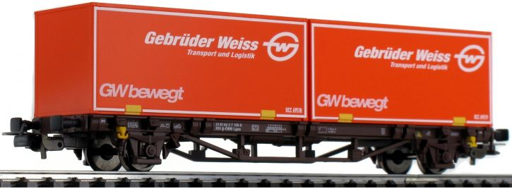 ausverkauft | PIKO 58779 Containerwagen Gbr. Weiss ÖBB | DC | Spur H0