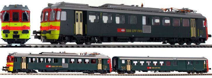 PIKO 96832 2-tlg. Set Triebwagen + Steuerwagen RBe 4/4 Seetal   DC analog   Spur H0