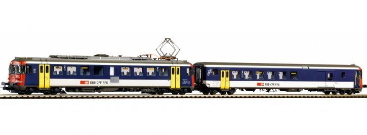 PIKO 96855 2-tlg. Set Rbe 4/4 + Steuerwagen NPZ SBB | DCC Sound | Spur H0