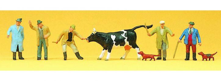 Preiser 10048 Viehhandel | Figuren Spur H0 1:87