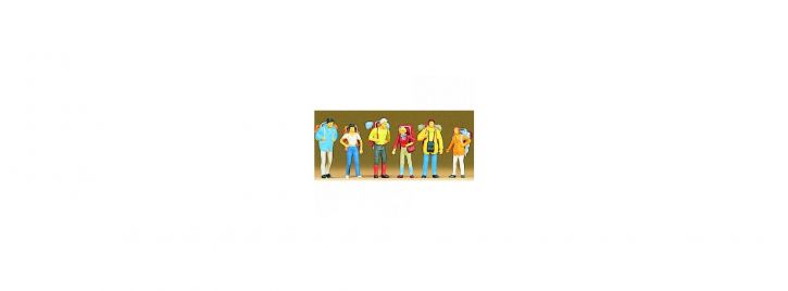Preiser 10113 Tramper  | 6 Miniaturfiguren Spur H0