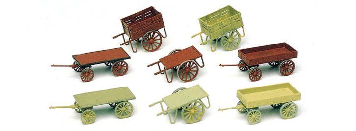 Preiser 17103 Handwagen (8 Stck.) Bausatz Spur H0