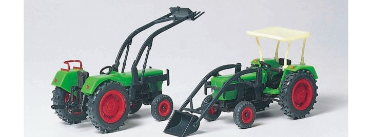 Preiser 17922 Schlepper-Set 2-tlg. DEUTZ D 6206 | Bausatz | Landwirtschaftsmodell 1:87