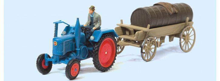Preiser 17939 Lanz D 2416 mit Güllefass | Landwirtschaftsmodell 1:87