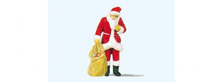 Preiser 29027 Weihnachtsmann mit Gabensack | Miniaturfigur 1:87