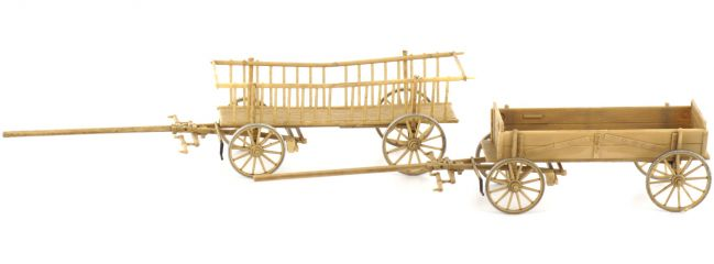 Preiser 30413 Leiter- und Kastenwagen Figuren Spur H0