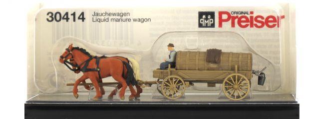 Preiser 30414 Jauchewagen + Figuren H0