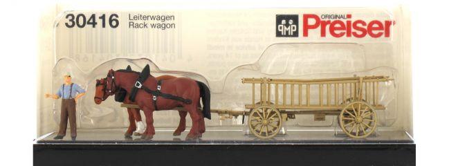 Preiser 30416 Leiterwagen + Figur Fertigmodell Spur H0