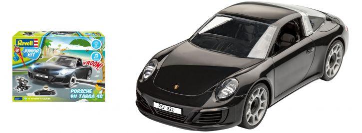 Revell 00822 Porsche 911 Targa 4S Junior Kit   Auto Bausatz 1:20