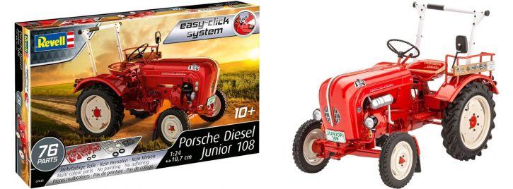 Revell 07820 Porsche Diesel Junior 108   Traktor Steckbausatz 1:24