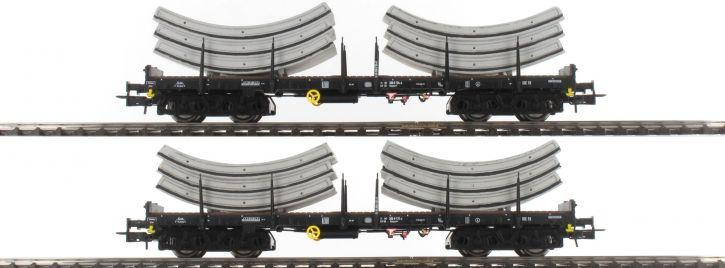 Rivarossi HR6269 2-teiliges Set Flachwagen Rmms | DB | Tübbings | Spur H0