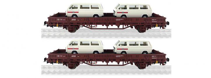 Rivarossi HR6458 Flachwagen Kls ohne Rungen 2 tlg.   DB   DC   Spur H0