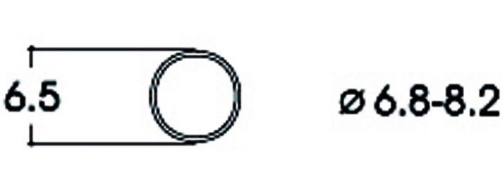 Roco 40067 Haftringsatz | Gleichstrom | 6,8-8,2 mm | 10 Stück | Spur H0