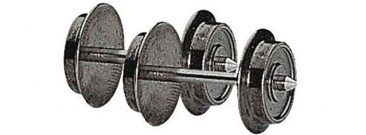 Roco 40179 Wechselstrom-Radsatz | 10mm | 2 Stück | Spur H0
