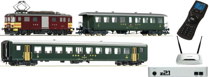 Roco 51338 z21 Zugset E-Triebwagen De4/4 mit Personenzug SBB | DCC Sound | Spur H0