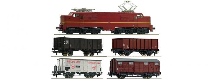 Roco 61459 Zugset E-Lok 1224 mit Güterzug NS | DCC-Sound | Spur H0