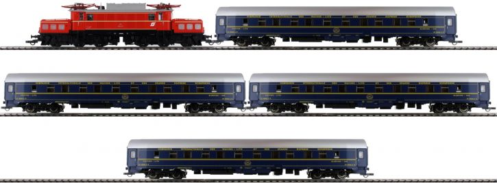Roco 61469 Zugset E-Lok Rh 1020 und 4 CIWL-Schlafwagen ÖBB | DCC Sound | Spur H0
