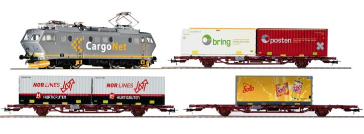 Roco 61486 Zugset E-Lok EL 16 mit Güterzug CargoNet | DC analog | Spur H0