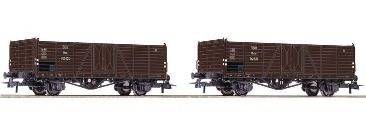 Roco 76106 2-tlg. Set Offene Güterwagen | ÖBB | DC | Spur H0