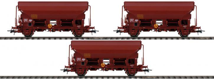 Roco 76178 3-tlg. Set Schwenkdachwagen Tds der SNCF   braun   Spur H0