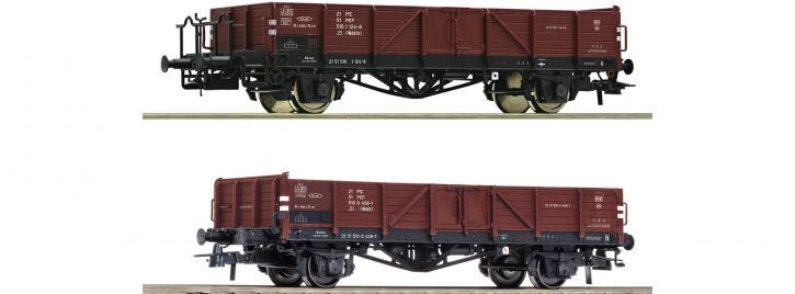 Roco 76281 2-tlg. Set Offene Güterwagen PKP | DC | Spur H0