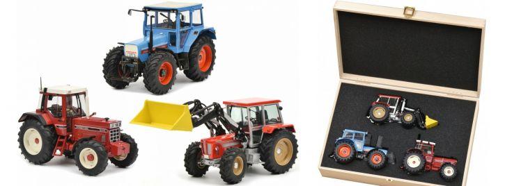 Schuco 450765900 Set Traktorlegenden in Holzkiste | Traktormodelle 1:32