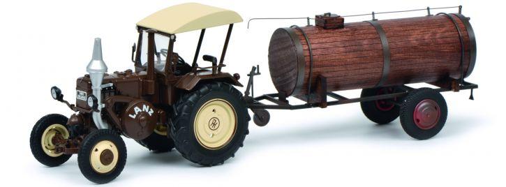 Schuco 450769900 Lanz Bulldog mit Güllefass | Landwirtschaftsmodell 1:32