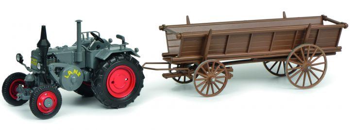 Schuco 450770200 Lanz Bulldog mit Leiterwagen   Landwirdschaftsmodell 1:32