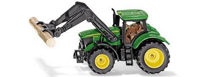 siku 1540 John Deere mit Baumstammgreifer   Traktormodell