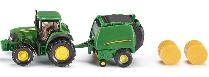 siku 1665 John Deere mit Ballenpresse   Traktormodell