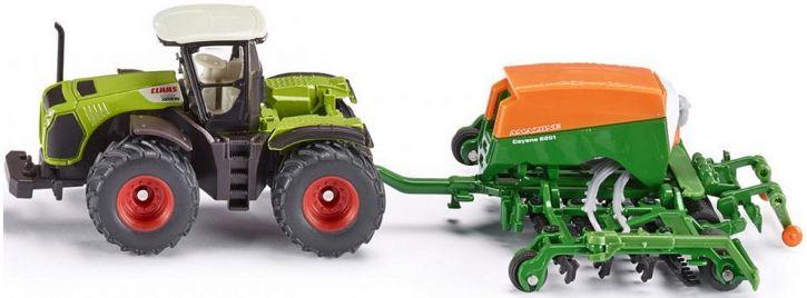 siku 1826 Claas Xerion mit Sämaschine   Traktormodell 1:87