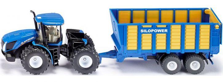 siku 1947 New Holland mit Silagewagen | Traktormodell 1:50
