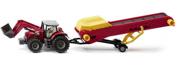 siku 1996 Massey Ferguson Traktor mit Förderband | Traktormodell 1:50