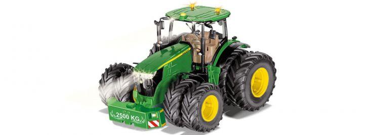 Siku 6735 John Deere 7290R mit Doppelreifen und Bluetooth Schnittstelle | 1:32 | RC Traktor