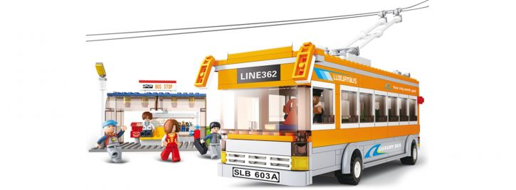 Sluban M38-B0332 Oberleitungsbus   Bus Baukasten