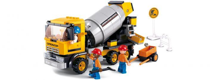 Sluban M38-B0550 Zementmischer | Baufahrzeug Baukasten