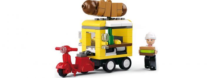 Sluban M38-B0565 Hot-Dog Imbisswagen | Auto Baukasten