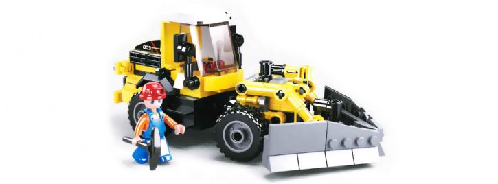 Sluban M38-B0803 Radlader | Baufahrzeug Baukasten