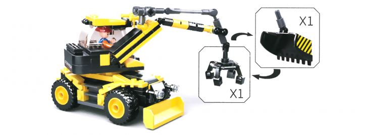 Sluban M38-B0805 Bagger | Baufahrzeug Baukasten