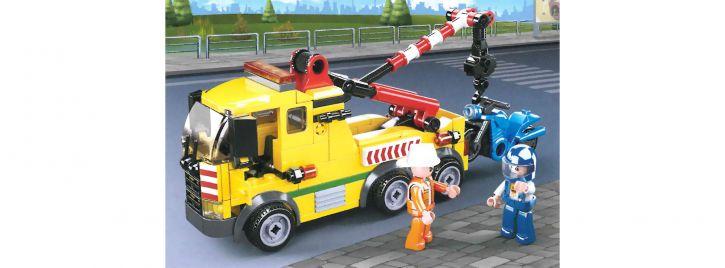 Sluban M38-B0877 Abschleppwagen mit Kran | Fahrzeug Baukasten