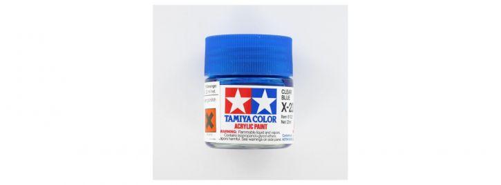 TAMIYA X-23 klar blau Streichfarbe #81023