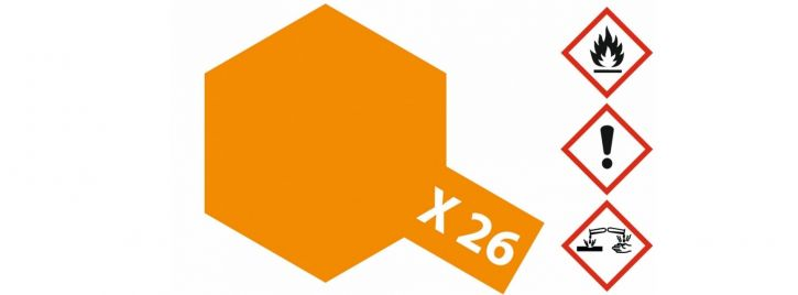 TAMIYA X-26 Klar-Orange glänzend 23ml #81026