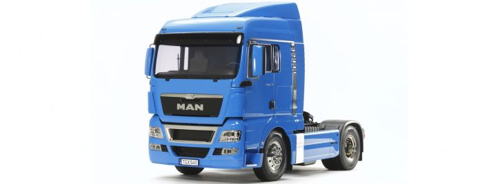 TAMIYA 56350 MAN TGX 18.540 | blau vorlackiert | RC LKW Bausatz 1:14