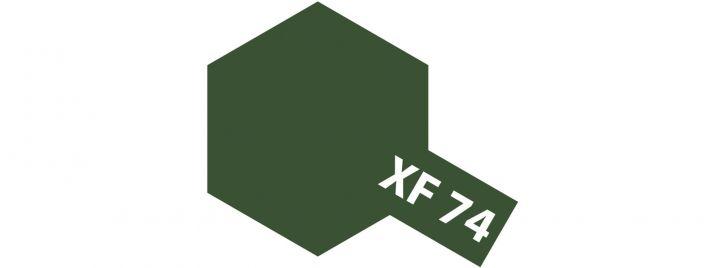 TAMIYA XF-74 Braunoliv matt JGSDF Streichfarbe #81774