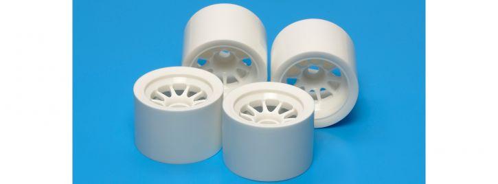 TAMIYA 54526 Felgenset weiß für Moosgummireifen | F104 + TRF101 | 4 Stück