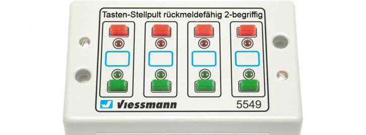 Viessmann 5549 Universal-Tasten-Stellpult rückmeldefähig Spur HO