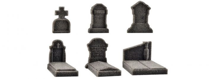 VOLLMER 48282 Dekoset Grabmale Steinkunstserie 6 Stück Fertigmodelle 1:87