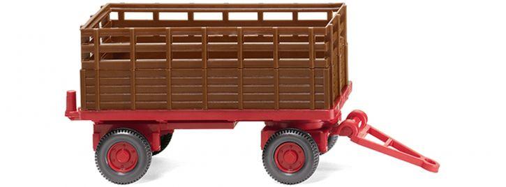 WIKING 038404 Landwirtschaftlicher Anhänger, rehbraun | Agrarmodell 1:87